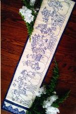 PATTERN - Yard of Snowmen Table Runner - stitchery PATTERN - Bird Brain designs