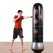 Inflatable Boxing Bag Tumbler Training Punch Mma Fitness Beginner Air Sandbags