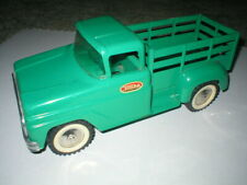 1963 Tonka Stake Pickup with Fence type Slide Gate (Green) No. 308 Carpet toy