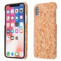 Apple iPhone X LIÉGE HOUSSE BOIS NATURE HARD CASE COVER CAS