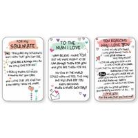 💕LOVE WALLET CARD INSPIRED WORDS Keepsake Sentimental Verse Gift Envelope💕
