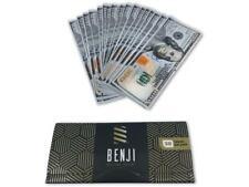 BENJI $100 Bill King Size - 1 PACK - Hemp Rolling Paper Money w/Tips 20 Per Pack