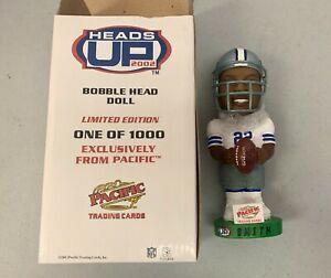 2002 Pacific Heads Up Emmitt Smith Dallas Cowboys Bobble Head Doll One of #1000