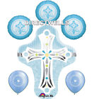 Baptism Blue Foil / Mylar and Latex Balloons Valued Pack  6 Balloons