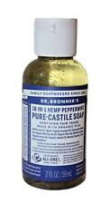 Dr Bronners Pure Castile Liquid Soap 18 in 1 Hemp Peppermint 2 Fl Oz Body Wash