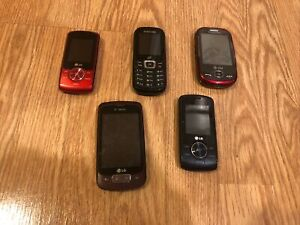 Flip Phone Lot LG Samsung Cell Phone Smart Phone Lot As Is Untested