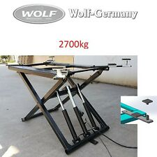 Portable SHORT HUB Scissor Lift 2700kg Lifting Platform wolf-germany