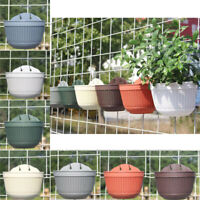 Rattan Flower Basket Plant Pots Boxes Holder Wall Hanging Home Garden Decors
