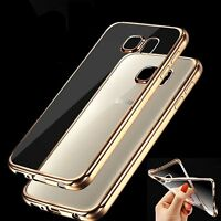 Slim Gold Transparent Soft Silicone Gel Case Cover Shell For Samsung Galaxy S6