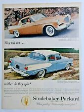 Original Magazine Print Ad for the 1957 Studebaker Golden Hawk