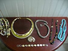7 Piece Broken Jewelry Lot AS IS Parts Repair Trifari Napier Cookie Lee Germany