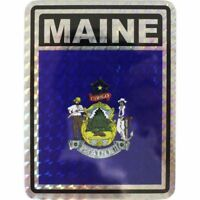 """State of Maine Reflective Decal Bumper Sticker 3.875"""" x 3"""""""