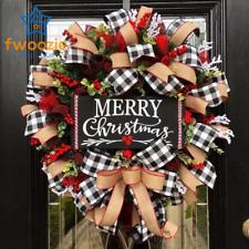 DIY Christmas Wreath Door Hanging Home Artificial Ornament For Wedding Christmas