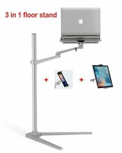 """Laptop Desk 3in1 Computer Floor Stand for All 12-17"""" Laptop/Tablet PC/Smartphone"""