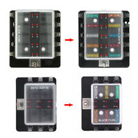 6 Way Blade Fuse Box Block Holder LED Indicator Light Kit for 12V 24V Car Marine