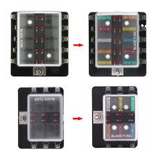 Blade Fuse Box Block Holder 6 Way LED Indicator Light Kit for 12V 24V Car Marine
