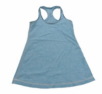 Lululemon Reversible Racerback Tank Top Size 4 Beaming Blue Polar Cream *flaw