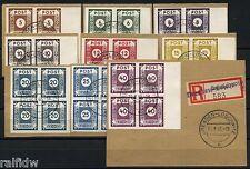 SBZ Postmeistertrennung Loschwitz 1945 Viererblocksatz Bogenrand geprüft (S7651)