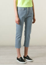 LOVE MOSCHINO DA DONNA AZZURRO CROPPED DENIM JEANS * W30/UK 12 * BNWT * £ 160 *