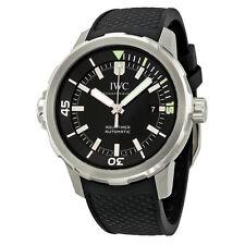 IWC Aquatimer Black Dial Black Rubber Mens Watch IW329001