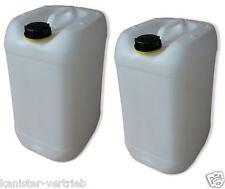 8 x 25 Liter Kanister weiß Wasserkanister Getränkekanister Frischwasser Behälter
