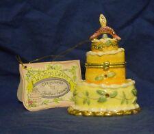 November Wishing Cake Trinket Box Blue Sky Heather Goldminc 2002 Nib