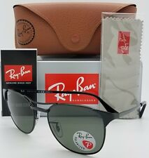 20b6fba785 NEW Rayban Signet Sunglasses RB3429 002 58 55 Black Polarized Grey 3429  GENUINE