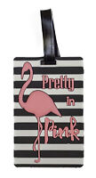 Pink Flamingo Airline Travel Luggage Tag Cruise Ship Silicone Rubber Bag Name