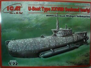 ICM S006 - 1/72 U-boat Type XXVIIB Seehund (early) WWII, scale plastic model