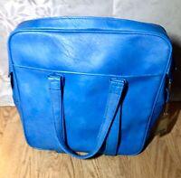 vintage samsonite carry on luggage Overnight Bag marbled Blue