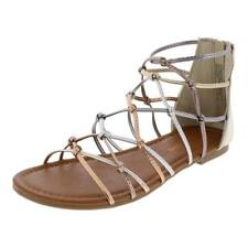 1a0cde502 Madden Girl by Steve Madden Girls Mistic Caged Gladiator Sandals Flats BHFO  9360