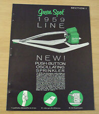 """1959 ADVERTISING Set Brochures~""""GREEN SPOT""""~Lawn Care~SPRINKLERS/Nozzles~"""