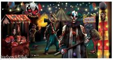 HALLOWEEN HORROR CREEPY CARNIVAL BANNER POSTER EVIL CLOWN  PARTY WALL DECORATION