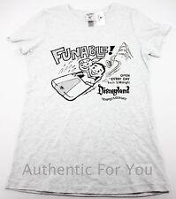 "Disneyland WDI Imagineer Exclusive Vintage ""Funable"" Gray Women's T-Shirt Small"