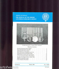 OMRS  vol 28  # 1  1989  Journal Orders & Medals Research Society  UK MEDAL MAGZ