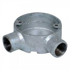 25mm GALVANISED CONDUIT 2 WAY 90 DEGREE ELBOW ANGLE BOX