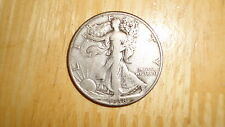 US 1938 D silver Walking Liberty Half Dollar coin Very Good nice KEY DATE