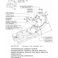 0718 POT D'ÉCHAPPEMENT SILENCIEUX homologué SITE Twin Chamber CPI HUSSAR 50