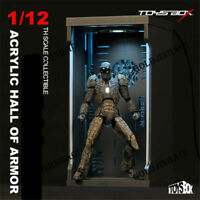 Iron Man Acrylc Hall Of Armor Hangar 1/12 Scale Collection Figure Box Toy Model