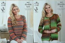 Knitting Pattern Ladies Womans Sweater Jumper Cardigan DK Double Knit King Cole