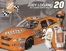 2011 Joey Logano Home Depot NASCAR Signed Auto 8.5x11 Post Hero Card