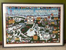 Calgary, Canada 1988 XV Winter Olympics Signed Gary Whitney #15 of 500 Poster
