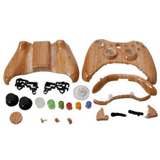 HOT Wood Grain Plastic Cover Shell Case + Buttons Kit for Xbox 360 Controller