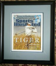 Tiger Woods signed photograph professionally framed Sports Illustrated. Only 1