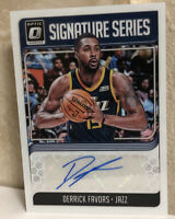2018-19 Donruss Optic Signature Series #17 Derrick Favors Auto Autograph MT-GMT