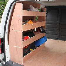 Scaffale per Van VW Caddy Maxi in Legno Compensato 12mm con 14 Scompartimenti