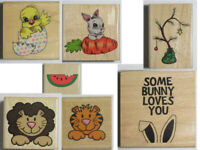 Stampabilities Wood Mounted Rubber Stamp NEW u pick