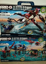 KRE-O Battleship 38955 Alien Strike &  38974 Battle Base  Ages 7-14 NEW 2 Sets