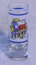 Shot Glass Shooter Texas Retired Original Clear Glass 875 K
