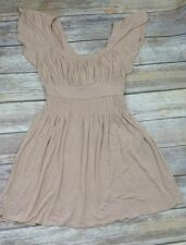 Forever 21 Scoop Neck Tie Back Baby Doll Empire Waist Skater Dress Tunic Size M